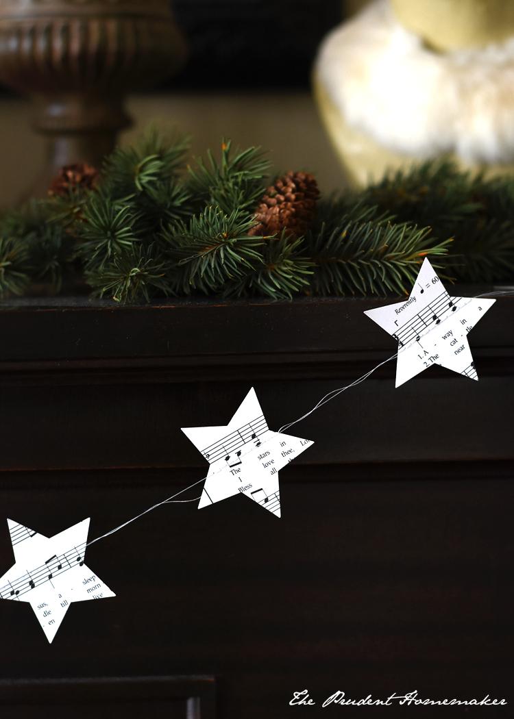 Christmas Music Star Garland The Prudent Homemaker