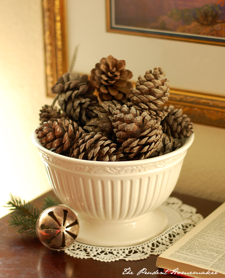 Pinecones in Bowl The Prudent Homemaker