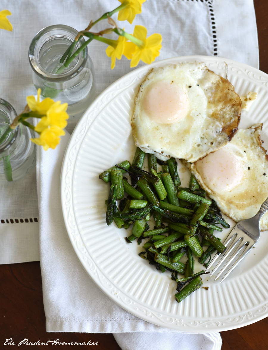 Asparagus and Eggs The Prudent Homemaker