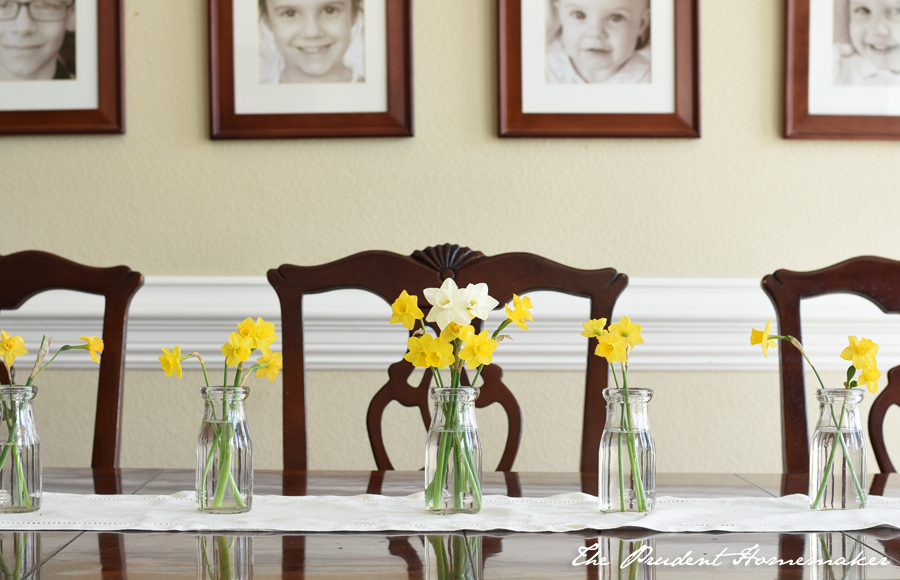 Daffodils on Table The Prudent Homemaker