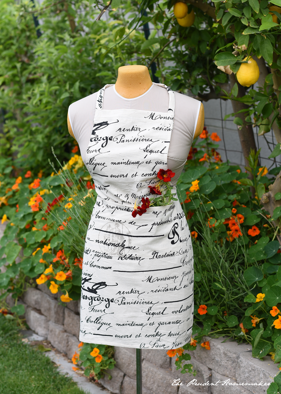 French Script Apron The Prudent Homemaker