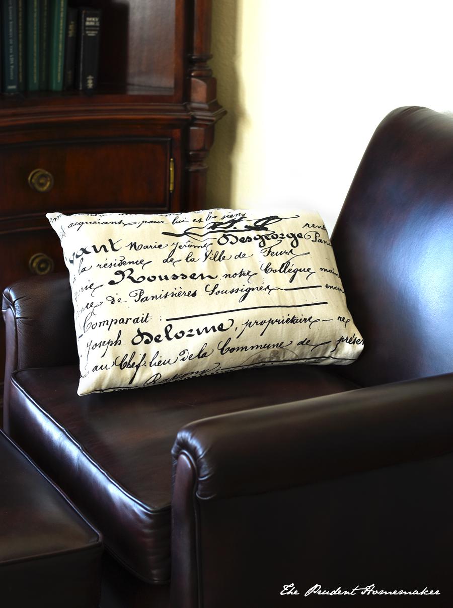 Script Pillow The Prudent Homemaker