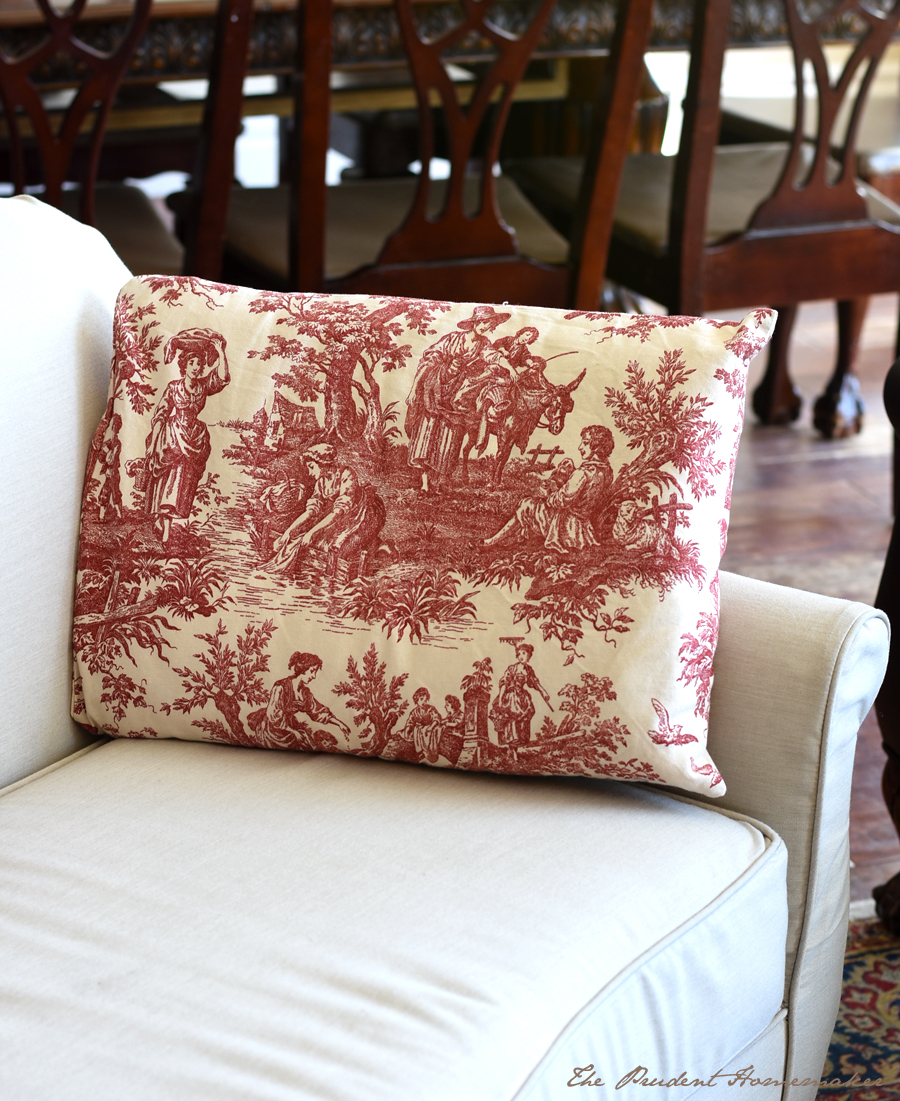 Toile Pillow The Prudent Homemaker