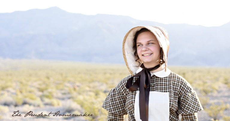 1840's Pioneer Reproduction Dress and Bonnet: Winter's Outfit for a Mormon Handcart Trek
