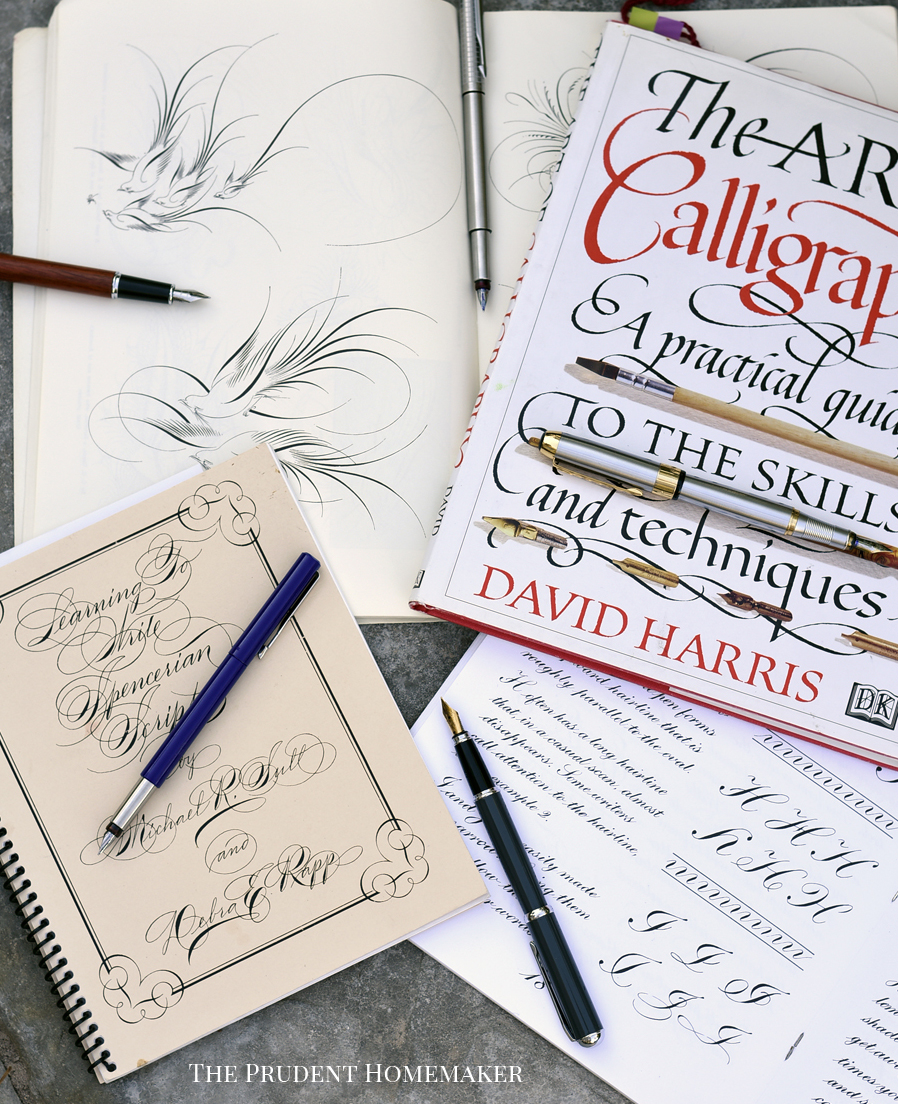 Calligraphy Books The Prudent Homemaker