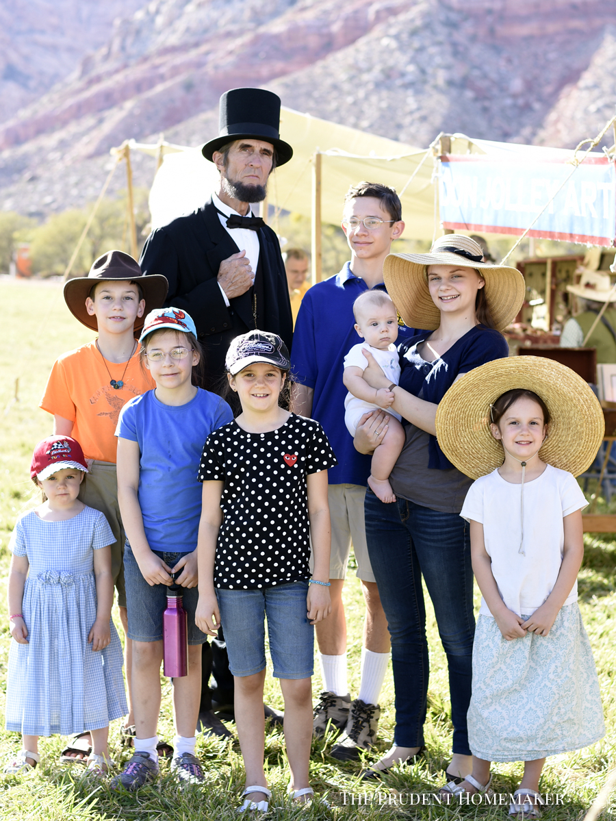 Children with Abraham Lincoln The Prudent Homemaker