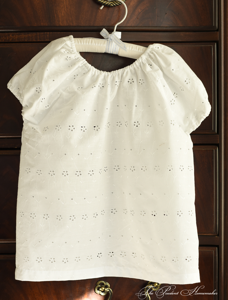 Eyelet Peasant Blouse The Prudent Homemaker