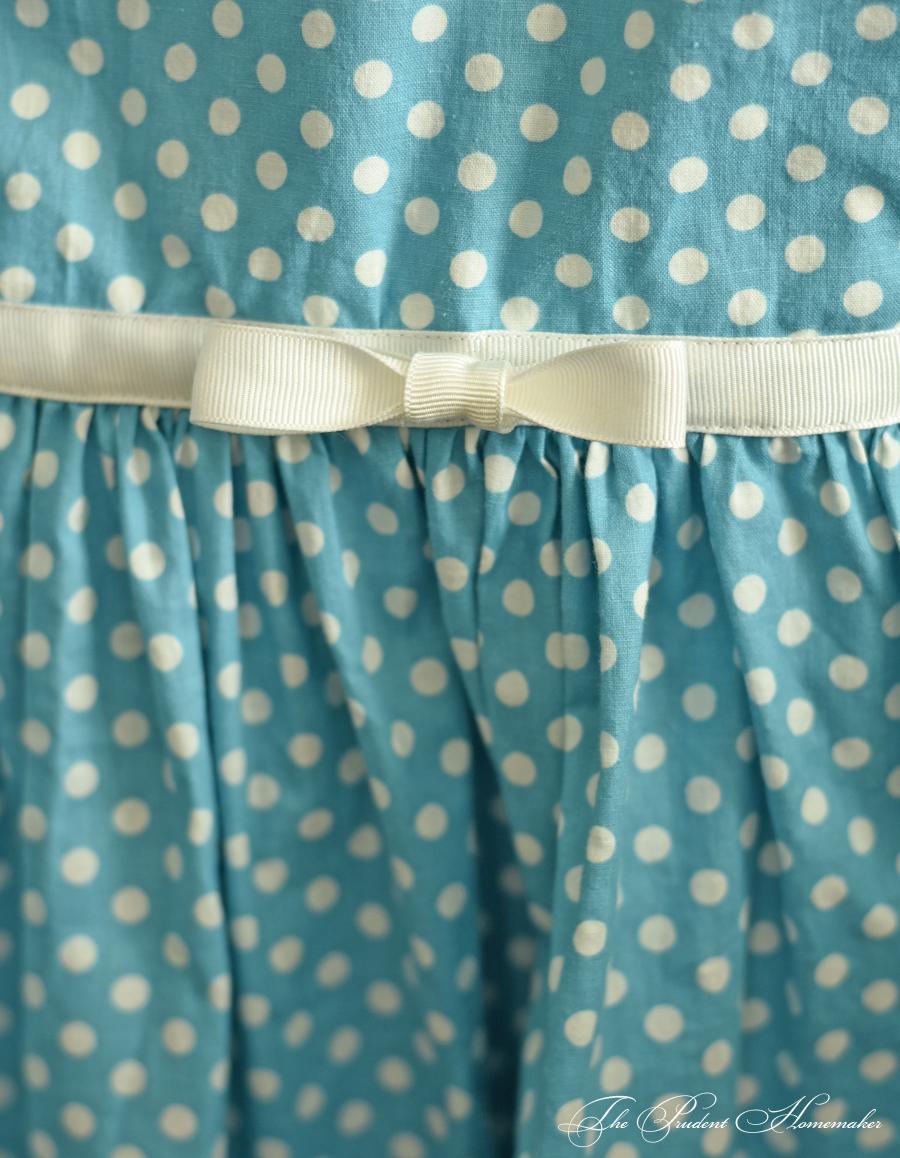 Polka Dot Dress Bow Detail The Prudent Homemaker