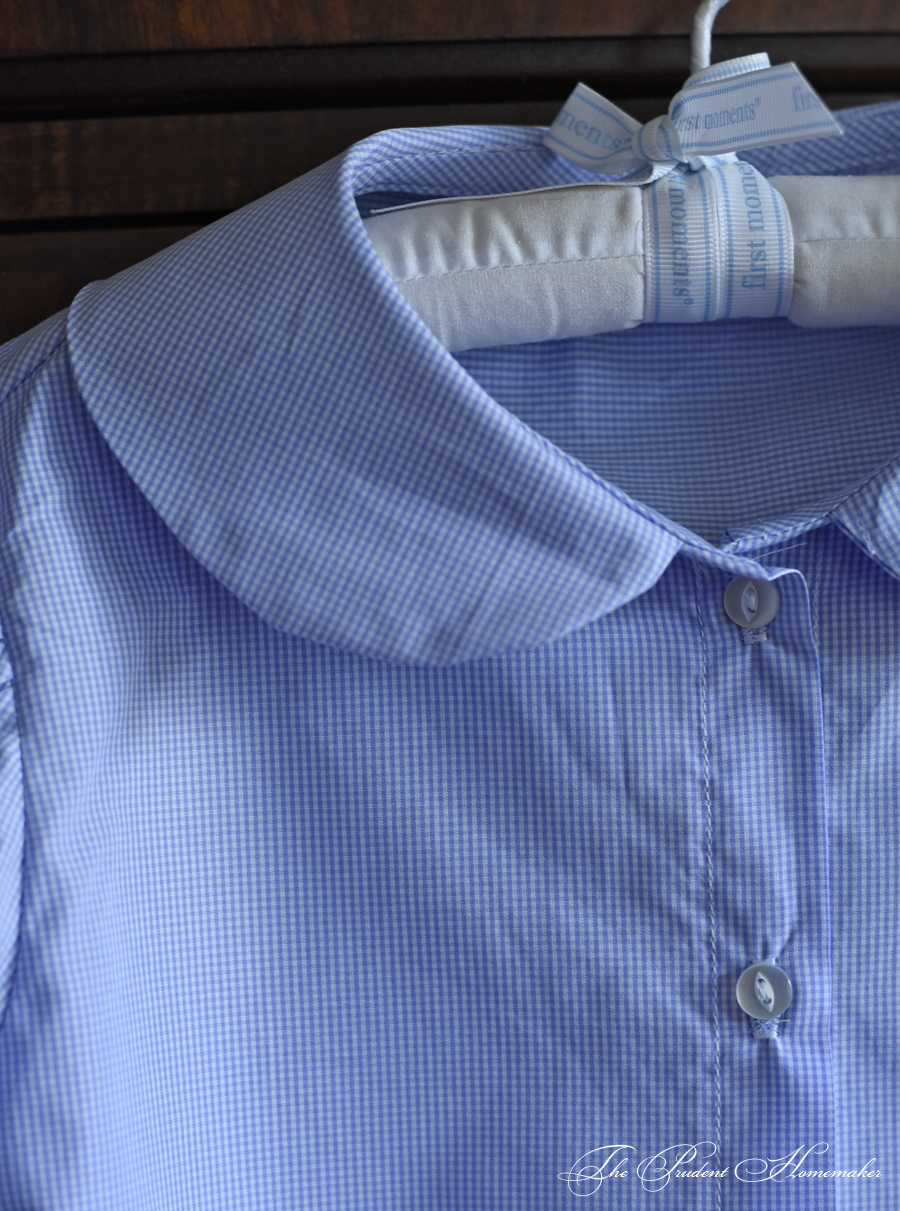 Checked Blouse Detail The Prudent Homemaker
