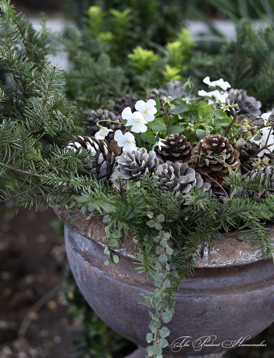 Winter Urn on Wall The Prudent Homemaker