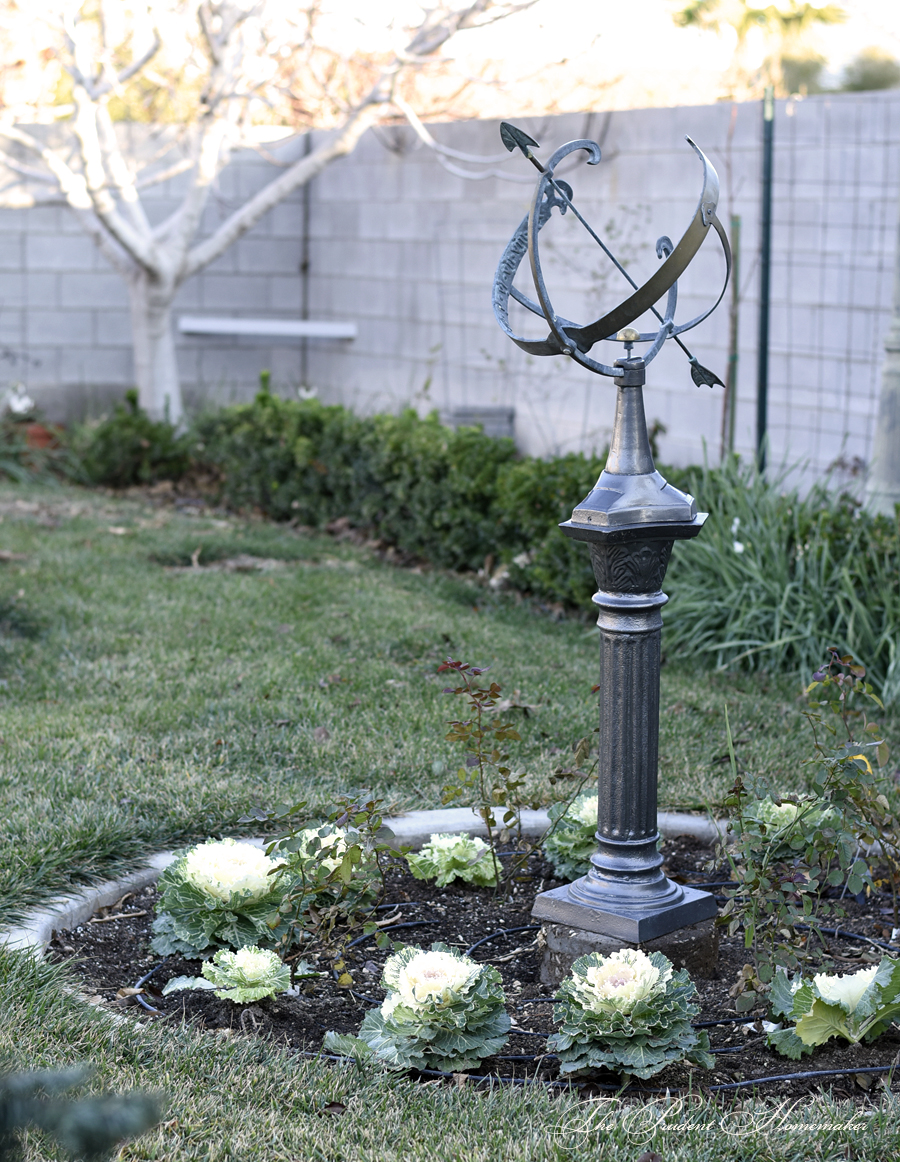 January Sundial The Prudent Homemaker