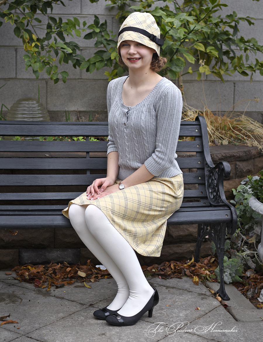 Thrift Store Skirt and Cloche The Prudent Homemaker