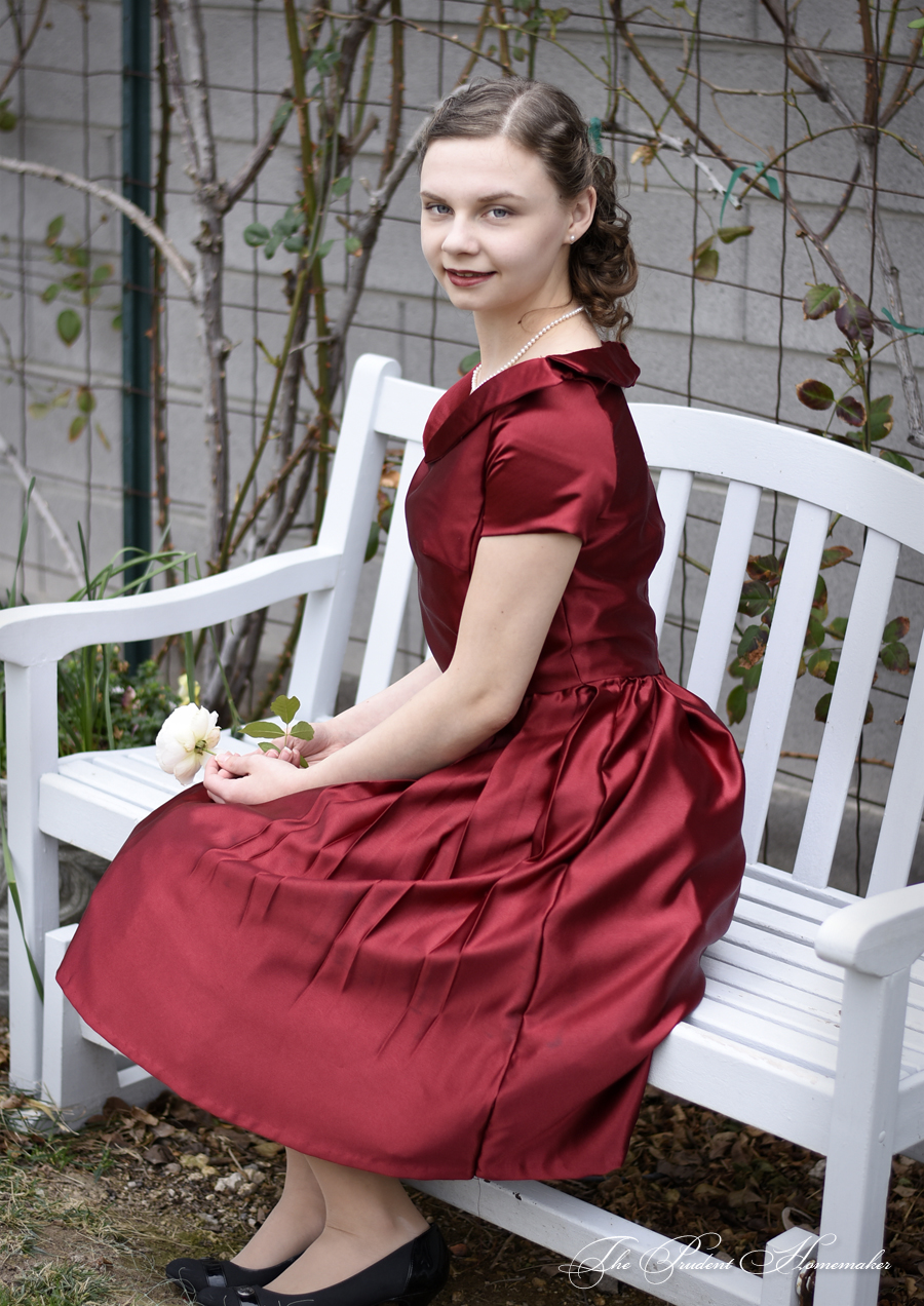 Red 40s Dress 1 The Prudent Homemaker