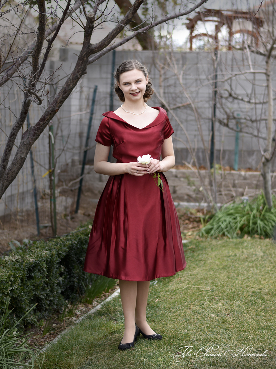 Red 40s Dress 2 The Prudent Homemaker