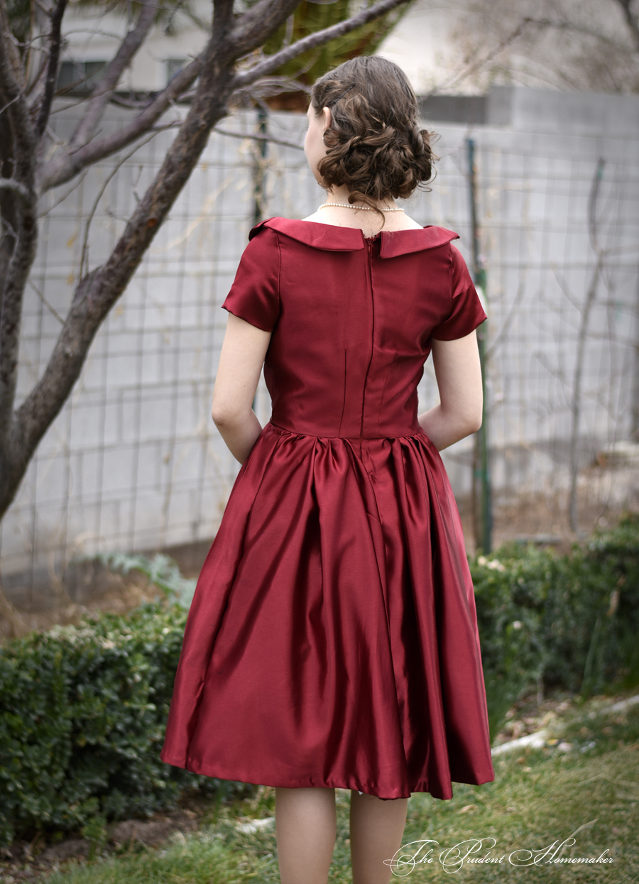 Red 40s Dress 3 The Prudent Homemaker