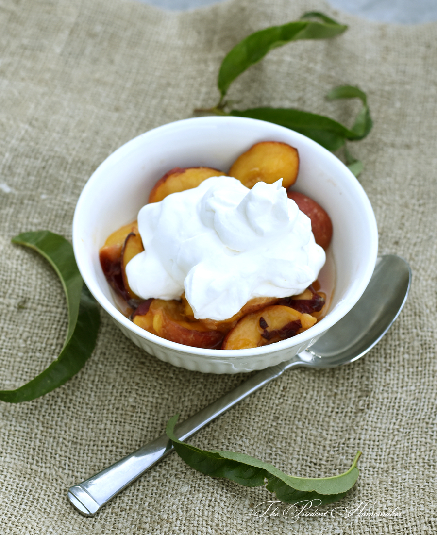 Peaches and Cream The Prudent Homemaker