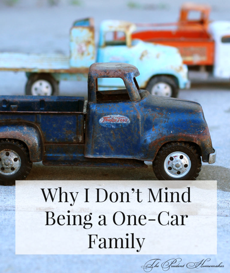 Why I Don't Mind Being a One-Car Family