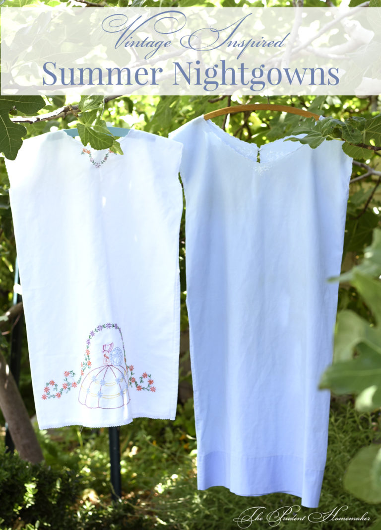 Vintage Inspired Pillowcase Nightgowns