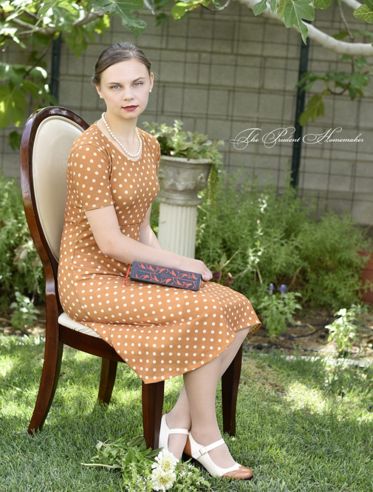 Polka Dot Dress Refashioned From a Maxi Skirt