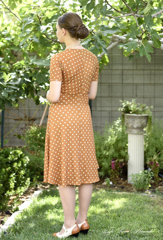 Polka Dot Dress Back The Prudent Homemaker