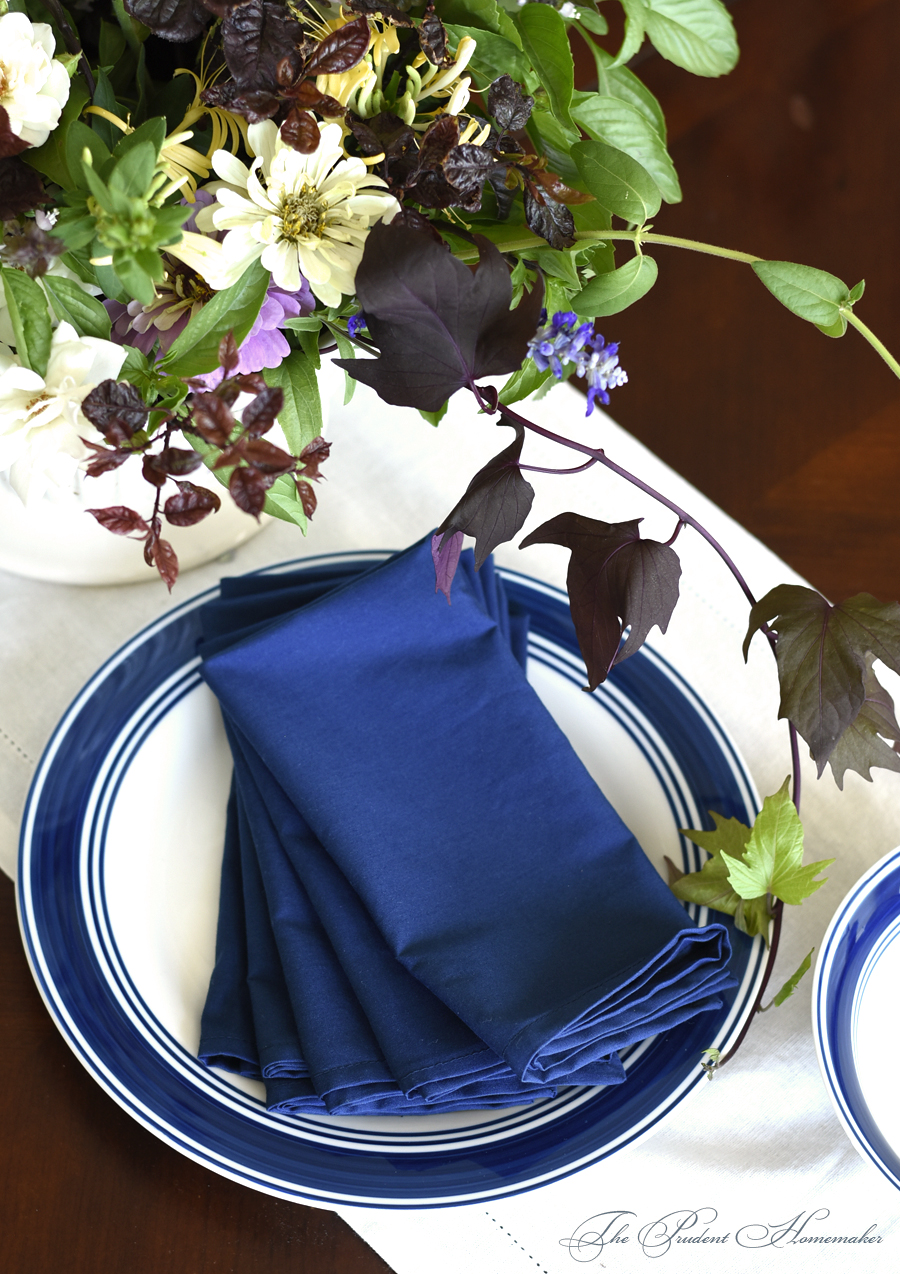Dishes and Napkins The Prudent Homemaker