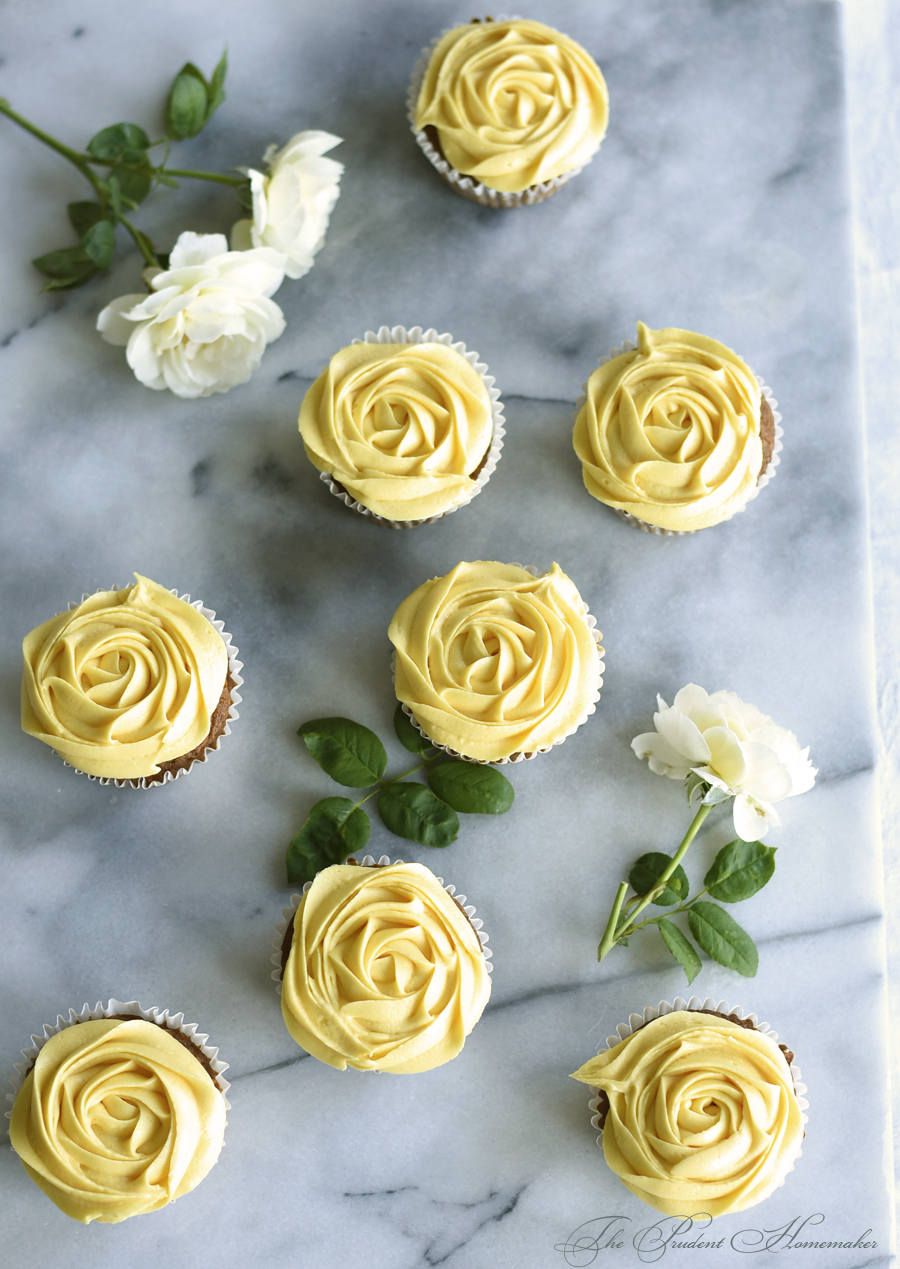Yellow Rose Cupcakes The Prudent Homemaker