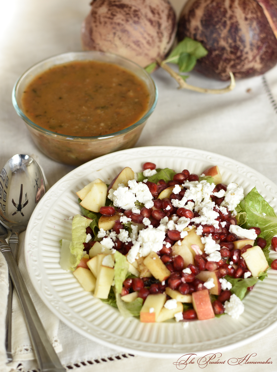 Pomegranate and Apple Salad The Prudent Homemaker