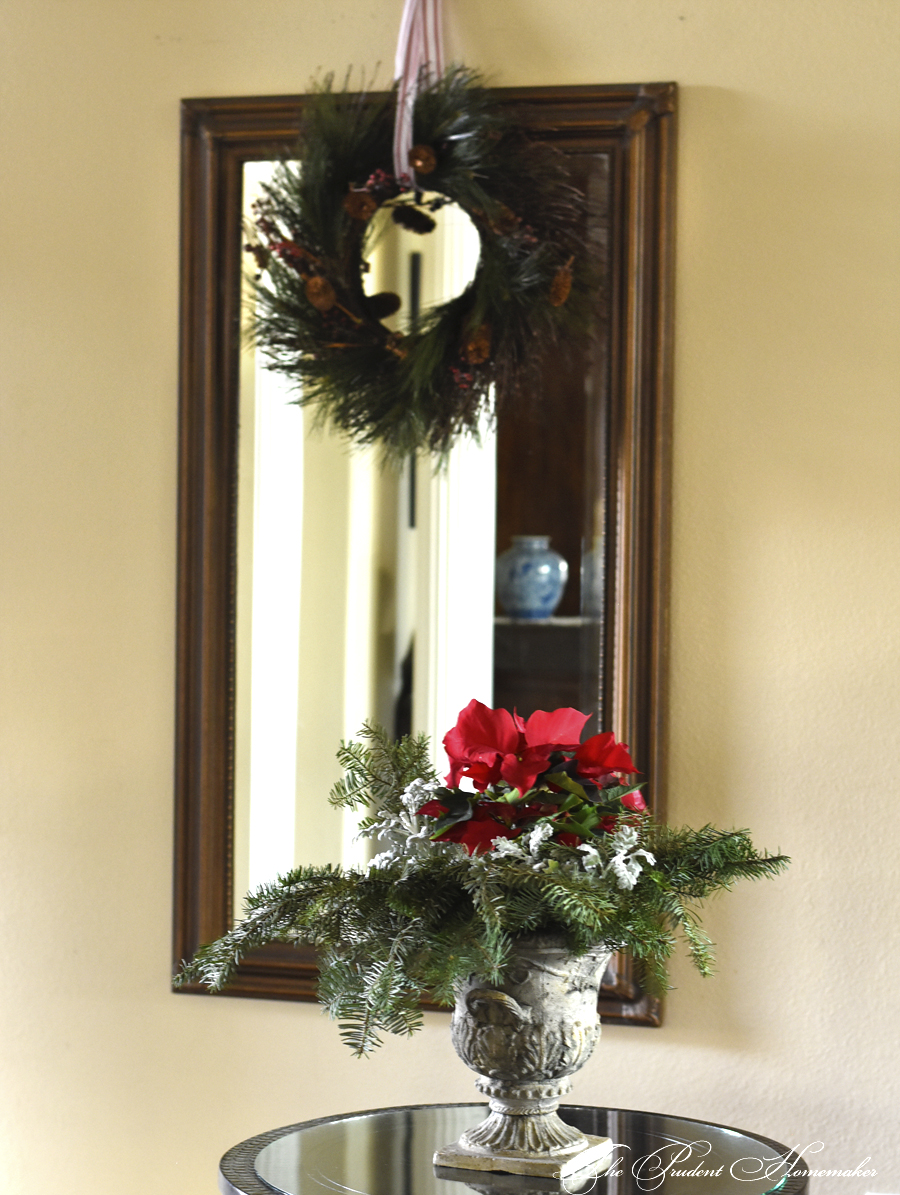 Christmas Entry Table and Mirror The Prudent Homemaker