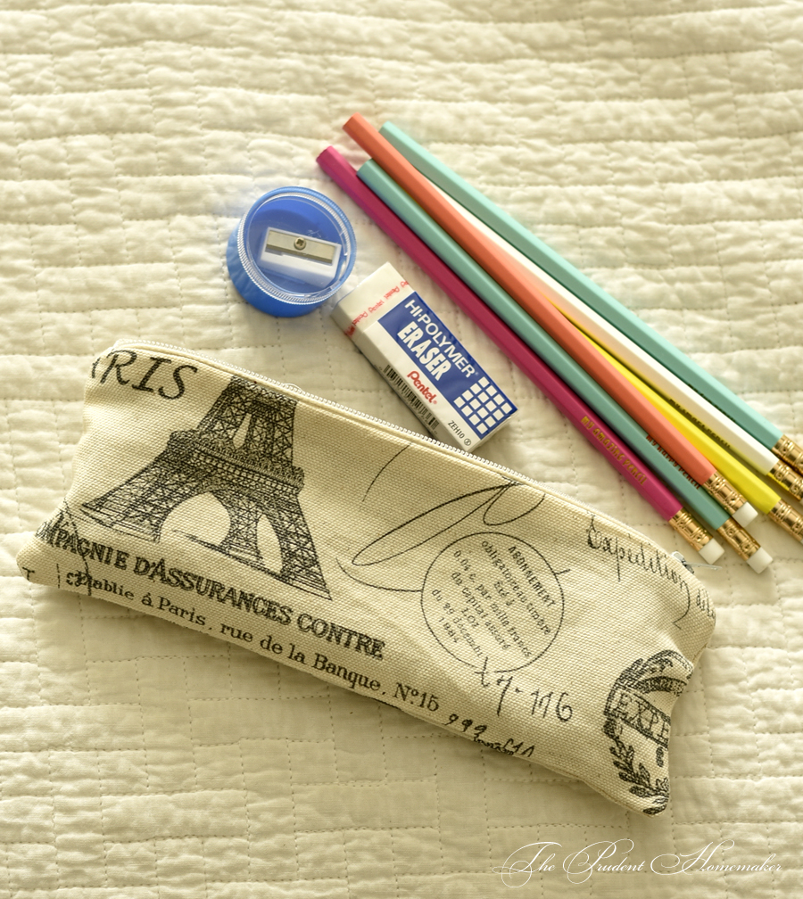 Eiffel Tower Pencil Pag The Prudent Homemaker
