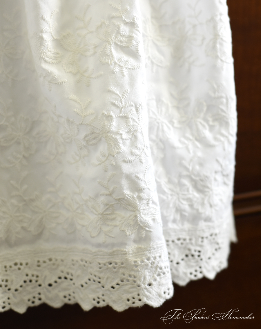 Eyelet Skirt Detail The Prudent Homemaker