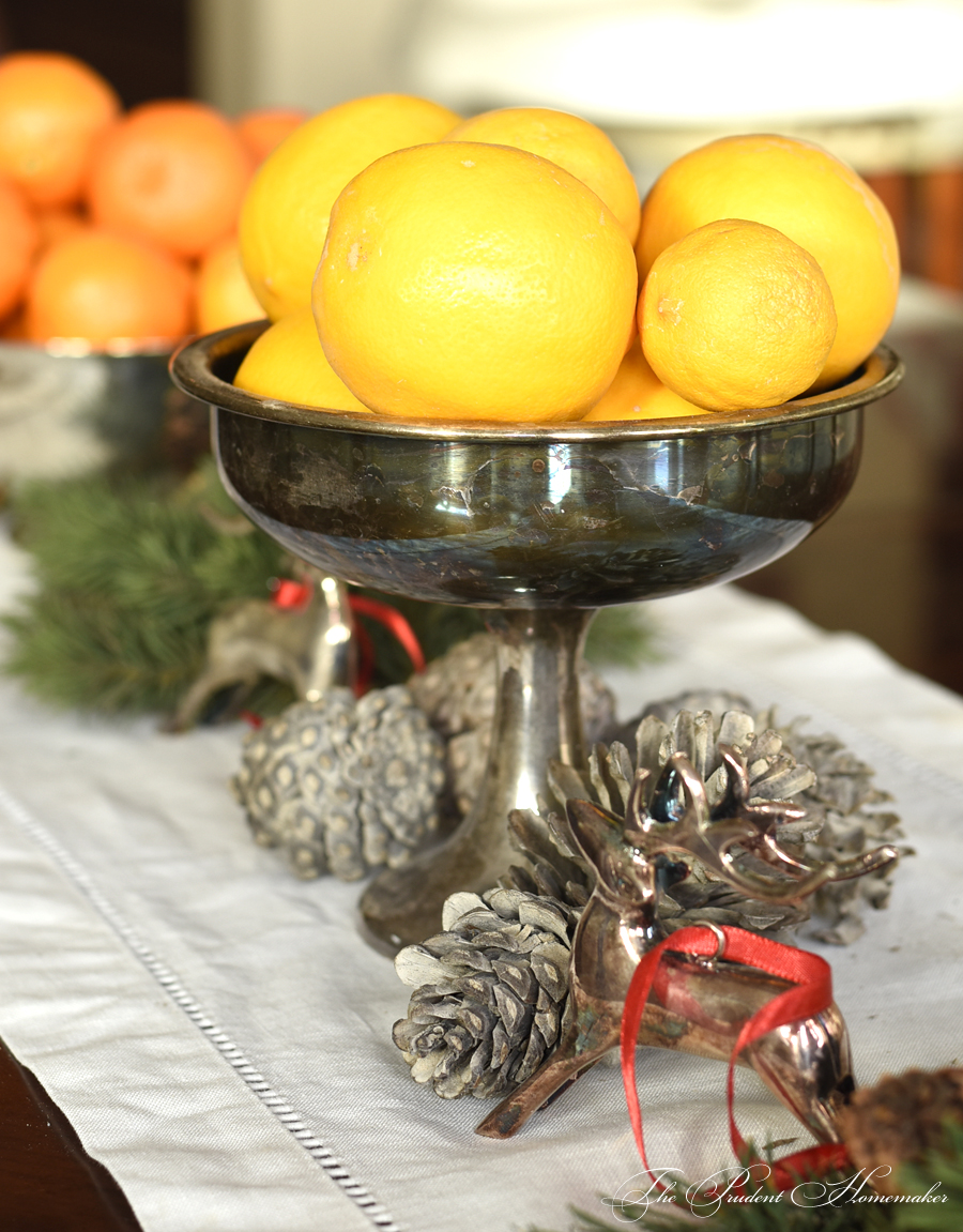 Lemons on the Christmas Table The Prudent Homemaker