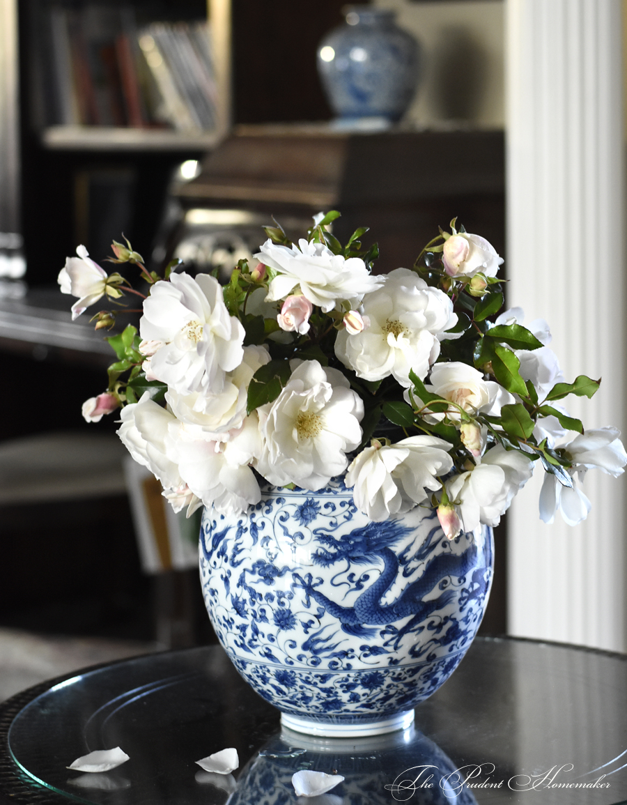 Iceberg Roses in Entry The Prudent Homemaker