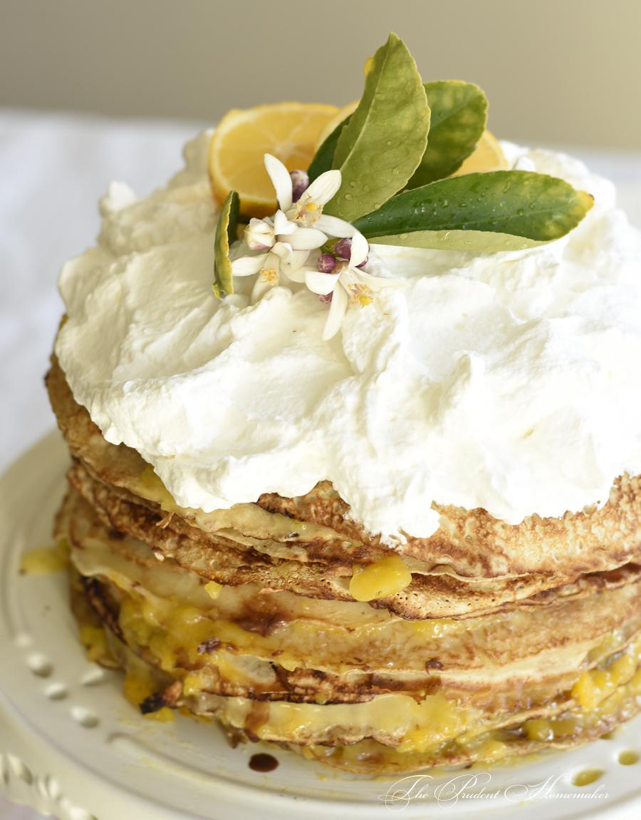 Meyer Lemon Crepe Cake 2 The Prudent Homemaker
