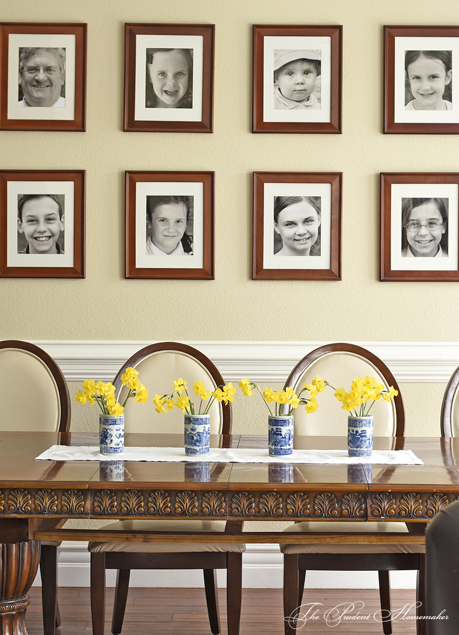 Spring Home Tour Daffodils on Table 2 The Prudent Homemaker