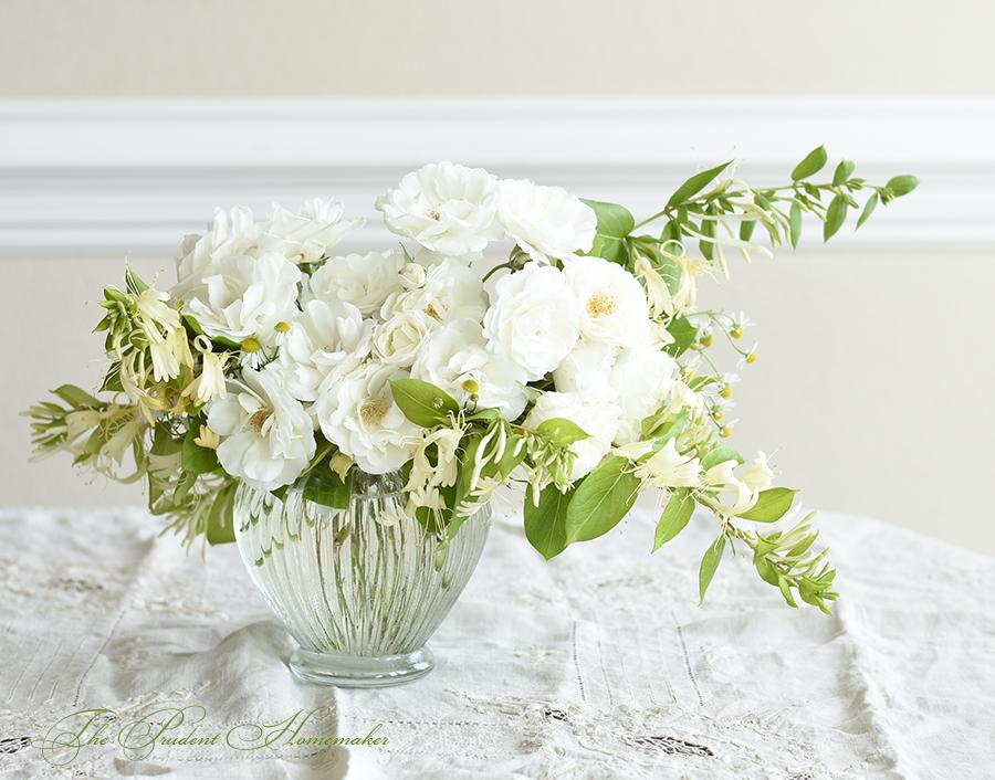 Iceberg Roses and Honeysuckle The Prudent Homemaker