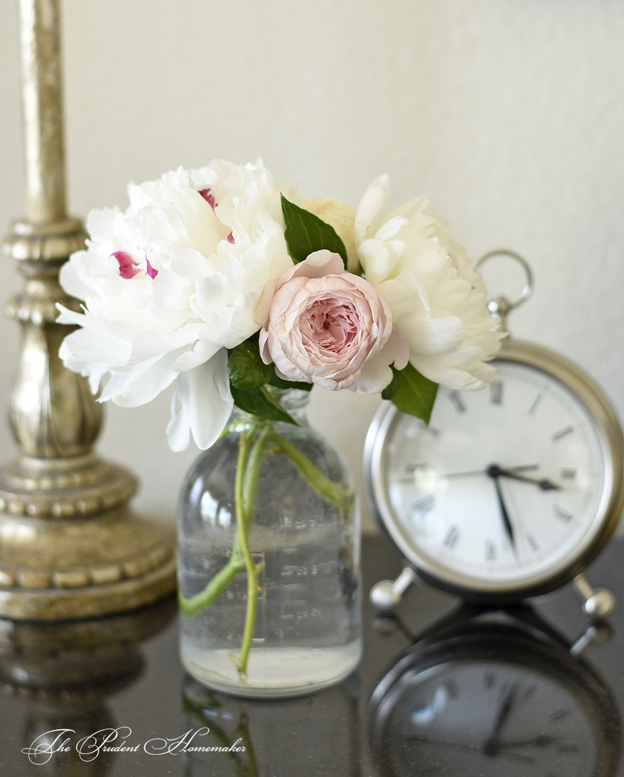 Peonies and Rose The Prudent Homemaker