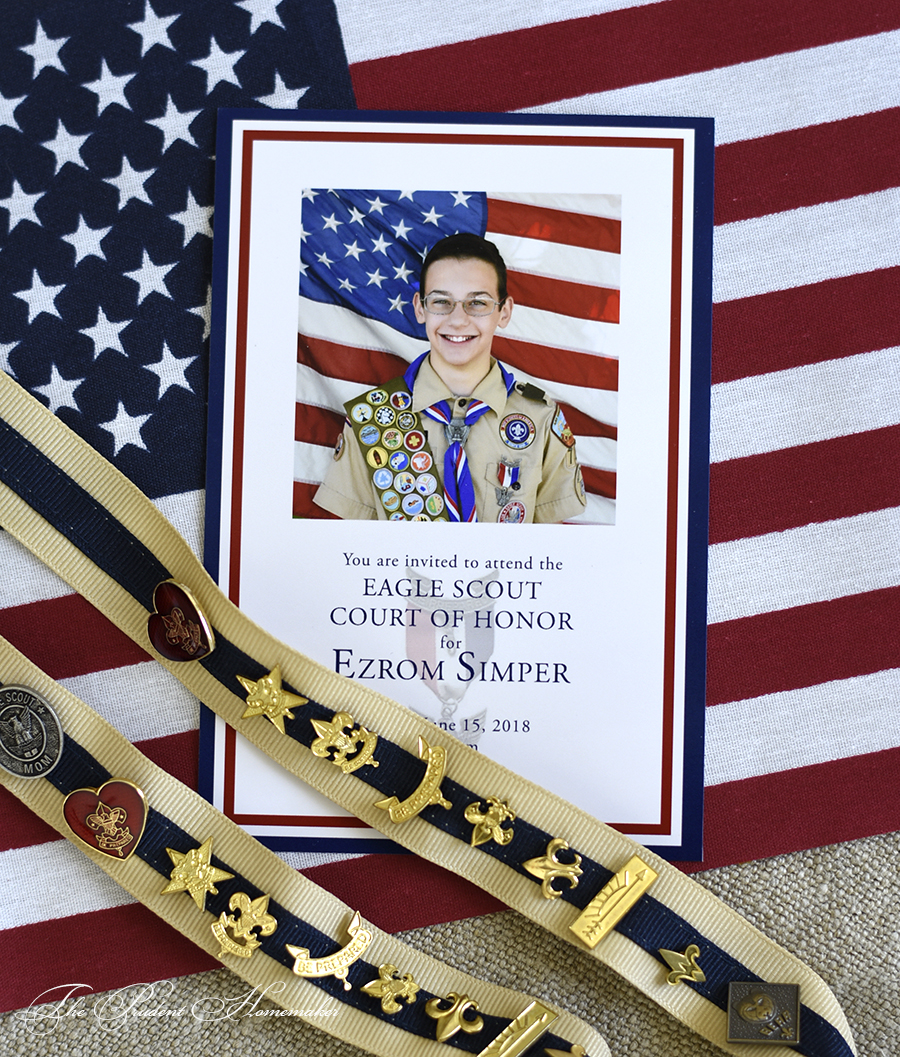 Ezrom Eagle Scout Invitation The Prudent Homemaker