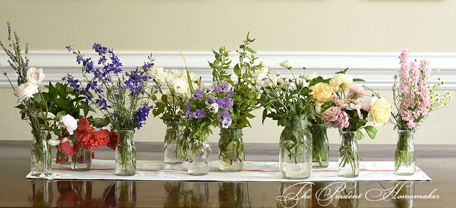 Floral Arrangement Prep The Prudent Homemaker