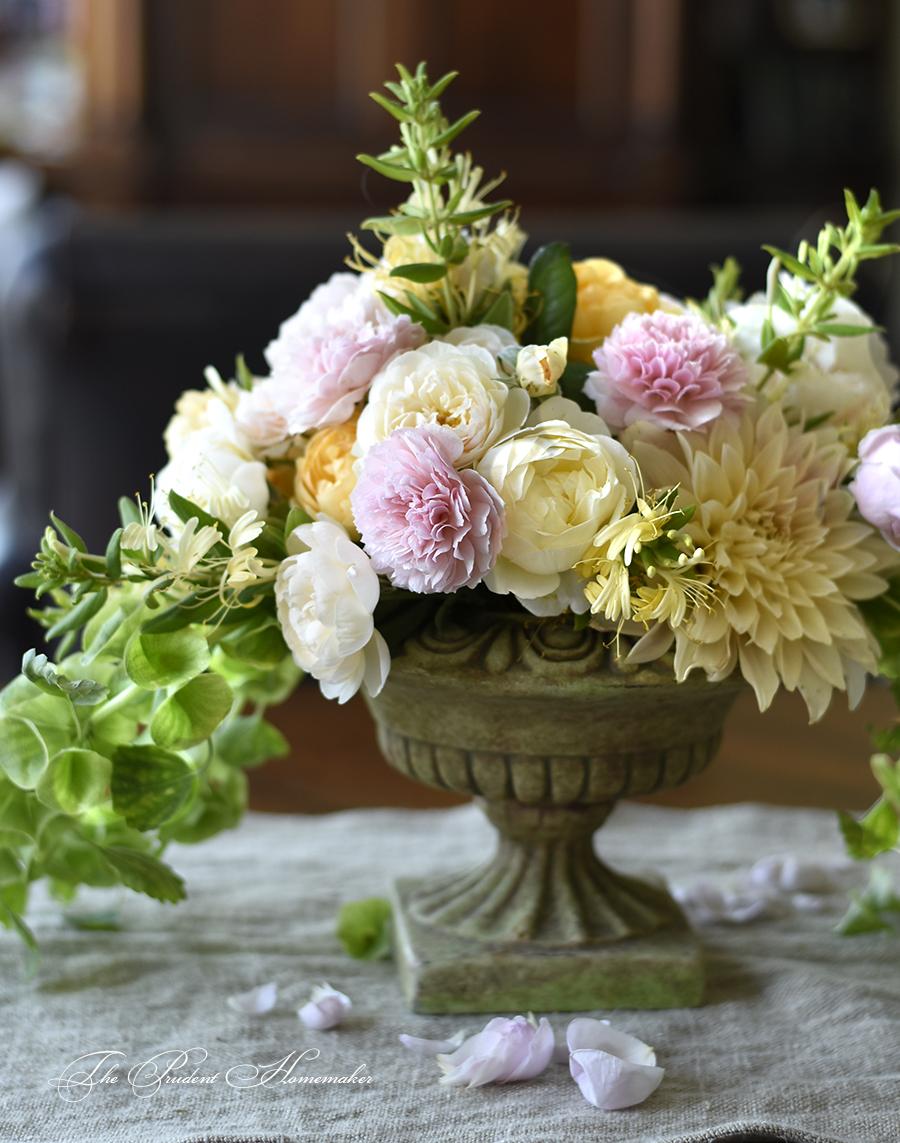 June Floral Arrangement The Prudent Homemaker